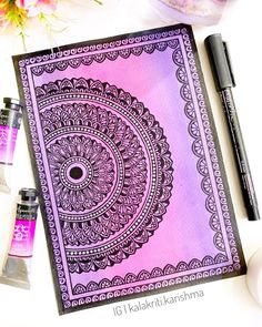 Cute Doodle Art, Doodle Art Designs, Doodle Art Drawing, Zentangle Drawings, Pencil Art Drawings, Doodle Ideas, Zentangles, Easy Drawings, Mandala Doodle