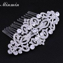 Minmin Bridal Floral Crystal Hair Combs Hair Jewelry Hairpins Wedding Hair Accessories for Women Best Gifts FS066 www.bernysjewels.com #bernysjewels #jewels #jewelry #nice #bags