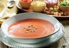 Transpórtate a España, con esta #receta deliciosa de #gazpacho.  #verano #vegetales #comidasaludable