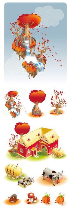Yuki Paradise Game Design by Manifactory. illustrations by David Sossella & Sara Penco
