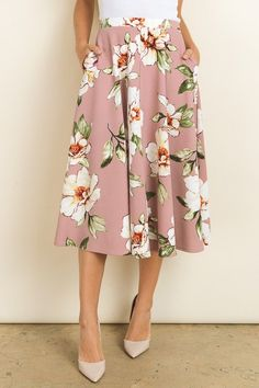 Floral Midi Skirt to pair with loose t-shirts