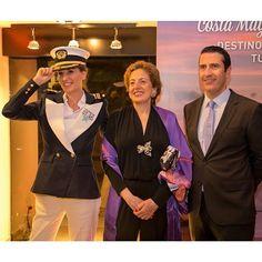 La Embajadora de México en España @robertalajous y el presidente de @pullmantur Jorge Vilches, ayer en la #MEDMVFNO2014 #PullmanturInspira #20añosMJ #MexicoEstaDeModa #MexicoGlobal