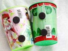 If your kids are always using new cups, give them their own designated cups with magnets to stick to the fridge.