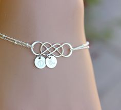 Personalized Infinity Bracelet Double Infinity by BenyDesign