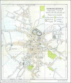 Plan miasta Nowogródka 1935r.