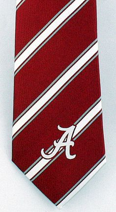 New University Of  Alabama Crimson Tide Striped Mens Necktie College Neck Tie #EaglesWings #NeckTie