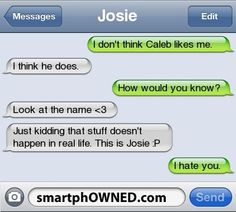 Caleb - - Autocorrect Fails and Funny Text Messages - SmartphOWNED Funny Shit, Funny Texts Jokes, Text Jokes, Funny Text Fails, Cute Texts, Funny Text Messages, Funny Relatable Memes, Epic Texts, Funny Stuff