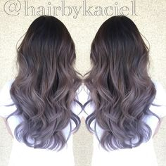 Lavender grey ombré                                                                                                                                                                                 More