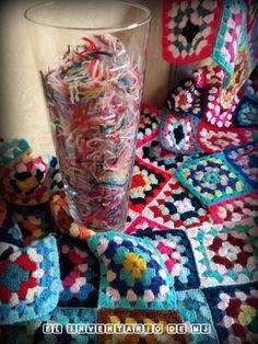 Manta de Crochet, Cuadros de lana ,Artesanía, lana Crochet y Ganchillo. Granny square, elinventariodemj.blogspot.com.es