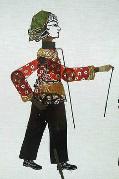 20th Century Chinese shadow puppet designed for Communist plays