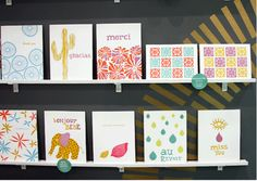 letterpress geometrics and simple designs and simple messages