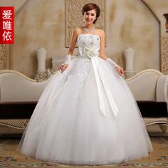 wedding quality rhinestone flower bride sweet princess wedding dress Bridal dress-inWedding Dresses from Apparel & Accessories on Aliexpress.com