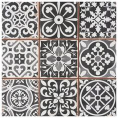 Ceramic Wall Tiles, Porcelain Tile, Vinyl Tiles, Mosaic Wall, Kitchen Tiles, Kitchen Flooring, Tile Flooring, Patchwork Tiles, Stoff Design