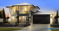 If you are looking for two storey arkana style homes, take a look at these unique and modern two storey homes designs. We offer wide range of 2 storey homes in Perth Two Story House Design, 2 Storey House Design, House Front Design, Modern House Design, Villa Design, Model House Plan, House Plans, Render Architecture, Double Storey House