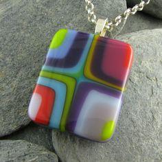 Multi Bullseye Colorful Pendant