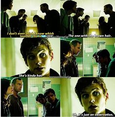 Teen Wolf - Bahahaha! I had to rewind this and watch it again like 10 times. I love Isaac so much! :)