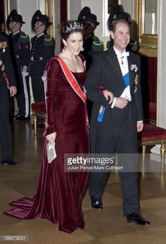 Febr. 2007 - Crown Princess Mary Of Denmark & The Earl Of Wessex Attend King Harald Of Norway'S 70Th Birthday Celebrations In Oslo.Gala Dinner & Dance At The Royal Palace.