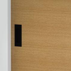 Milos - Flush Pull Handle - 124mm X 42mm - Matte Black (Each) Front Door Handles, Black Door Handles, Black Doors, Matte Black, Bathroom, Washroom, Black Front Doors, Full Bath, Black Door