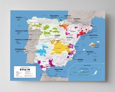 Wine Map of Spain with Cities