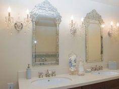 Hollywood Regency with a little natural influence Hollywood Regency, Concept, Interiors, Mirror, Bathroom, Elegant, Natural, Frame, Furniture
