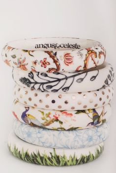 Angus & Celeste porcelain bracelets (add to Finders Keepers market shopping list)