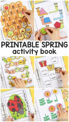 Printable Spring Quiet Book – Activity Book for Pre-K and K – Easy Peasy and Fun Druckbares Spring Quiet Book – Aufgabenbuch für Pre-K und K – Easy Peasy and Fun … Preschool Learning Activities, Free Preschool, Spring Activities, Preschool Worksheets, Fun Learning, Preschool Activities, Activities For Kids, Printable Worksheets, Free Printable