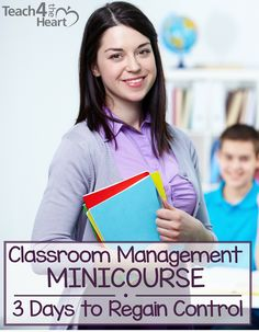 Classroom Management MiniCourse: 3 Days to Regain Control [Day 1]  Great tips on regaining control in your classroom.