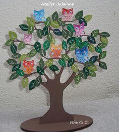 Atelier de Arte Julainne: Árvore de Corujas