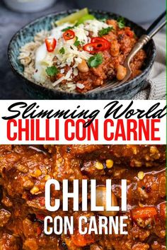 Looking for a Slimming World Chilli recipe? This easy Chilli Con Carne packs the flavour and is a true crowd pleaser. Cook a batch on your stove, slow cooker or Instant Pot – it tastes even better the next day, freezes brilliantly and is so versatile! Slow Cooked Chilli, Chilli Beef Recipe, Easy Chilli, Chilli Recipes, Veggie Recipes, Beef Recipes, Cooking Recipes, Veggie Food, Cooking Tips