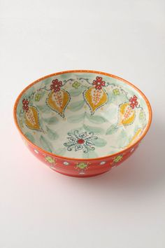 Sliced Persimmon Serving Bowl