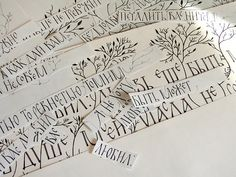 "Calligraphy for ""The Long Stories Of Perm"" festival. /sketches/ by Marina Marjina, via Flickr"