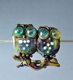Brilliant Lampwork Glass Owls by Georgie Field / TheGlassOwl