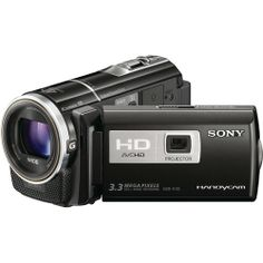 Sony HDR-PJ10 16GB Full HD PAL Camcorder (1920 x 1080 Full Recording, 1/5.8'' CMOS Sensor, 3.0'' Touch LCD, 30x Optical Zoom) (Free Sony LCS-U20 Carrying Case + 15' Projector Screen)