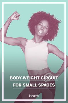 This no-equipment circuit makes it easy to squeeze a workout into your busy day. #athomeworkouts #tinyspaces Aerobics Workout, Dumbbell Workout, Toning Workouts, At Home Workouts, Health News Articles, News Health, Health And Fitness Tips, Body Weight Circuit, Weight Routine