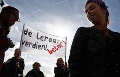 Manifestatie leraren in goede sfeer verlopen