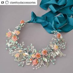 Isn't this just gorgeous from @clarelloydaccessories⠀ I just love the colours and detail, so pretty. ⠀ ⠀ ▪︎Hair accessories▪︎⠀ ⠀ ▪︎Do you buy before or after your hair trial? ⠀  If you know how you are going to have your hair style for sure and you've fell in love with a hair piece, sure bring it along to your hair trial. ⠀ ▪︎I've ordered it and it won't arrive in time for my trial?  It's a good idea to have plenty of pictures of your chosen accessory and bring them along to your stylist to…