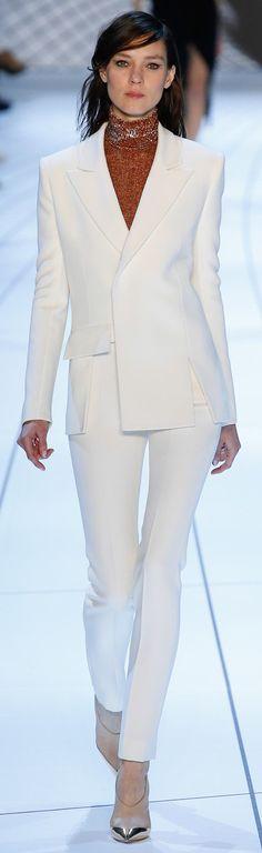 Mugler ~  Fall White Pant Suit, 2015