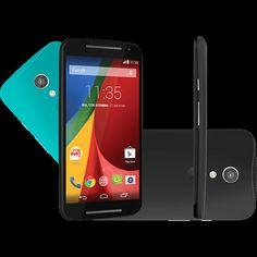 Smartphone Motorola Moto G (2ª Geração) Colors Dual Chip Desbloqueado Android 5.0 Tela 5 8GB 3G Wi-Fi Câmera 8MP Preto