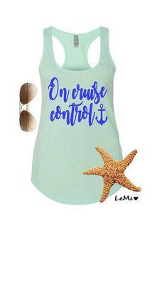 9b82e4242cf6c Cruise tank top. Cruise tank. Family cruise shirt. Birthday cruise shirt.  On cruise control shirt.
