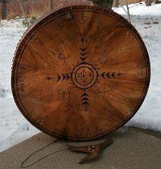 round shaman drum | by Clouberry Market Native American Artwork, Native American Artifacts, Native American Women, Drum Craft, Native American Spirituality, Drums Art, Craftsman Furniture, Meditation, First Nations