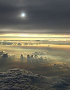 Above the clouds. by Megan Linn Above The Clouds, Sky And Clouds, Storm Clouds, Cool Pictures, Cool Photos, Beautiful Pictures, Beautiful Moon, Beautiful World, Mother Earth
