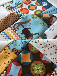 Riley Blake Hooty Hoot Returns Baby Quilt Top Unfinished