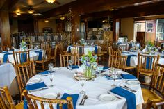 natural chiavari chairs make the room at Lakeview Lodge, Heavenly Mountain Resort, CA. http://www.iconicweddings.com/Destinations/Heavenly.aspx  Blue Lotus Photography, #mountainweddings