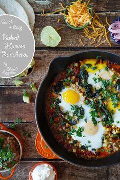 Quick and Easy Baked Huevos Rancheros | sharedappetite.com