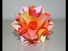 "Origami - Cuboctahedron ""Curler Units"" - YouTube I ♥ Curlers :)"