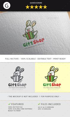 gift shop logo - Animals Logo Templates Download here : https://graphicriver.net/item/gift-shop-logo/19734270?s_rank=278&ref=Al-fatih