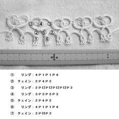 【タティング】リボンモチーフ【ブレード】の作り方 手順|1|編み物|編み物・手芸・ソーイング|作品カテゴリ|ハンドメイド、手作り作品の作り方ならアトリエ