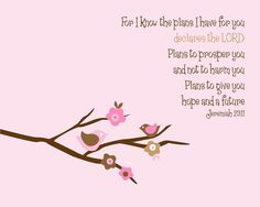 Jeremiah 29:11 print for baby girl's room (comes in other colors too)
