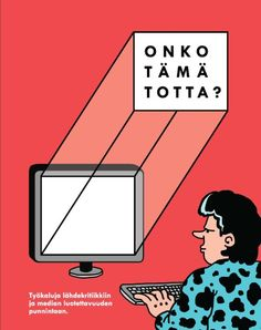 onkotamatotta_FINAL_kansi1 Newspaper, Content, Education, Teaching Ideas, Movies, Movie Posters, Journaling File System, Films, Film Poster