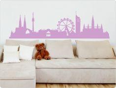 Wall Stickers Animals, Normal Wallpaper, Skyline, Wall Tattoo, Nursery Wall Decals, Room Wall Decor, Woodland Animals, Vienna, Flower Decorations